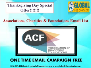 Associations, Charities & Foundations Email List