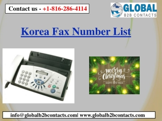 Korea Fax Number List