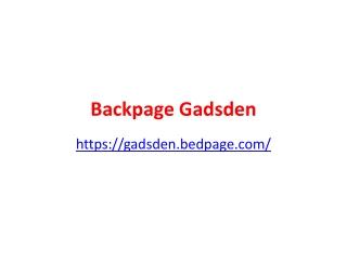 Backpage Gadsden