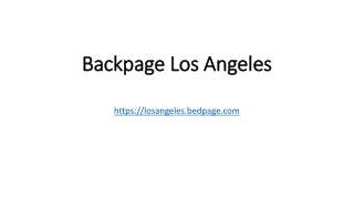 Backpage Los Angeles