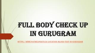 Full body check up in Gurugram