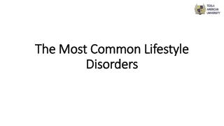 The Most Common Lifestyle Disorders