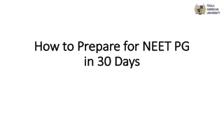 How to Prepare for NEET PG in 30 Days