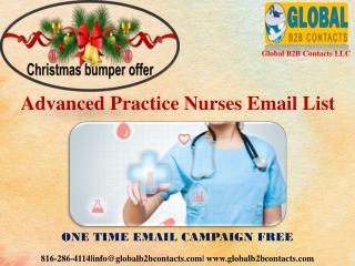 Advanced Practice Nurses Email List