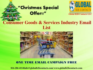 Consumer Goods & Services Industry Email List