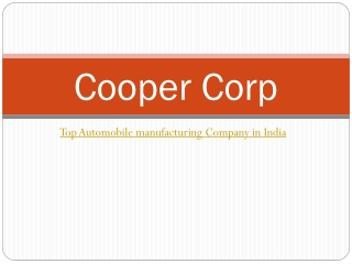 Top Automobile Parts Manufacturing Company in India