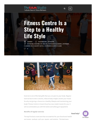 Fitness Centre Is a Step to a Healthy Life Style