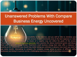 Unanswered Problems With Compare Business Energy Uncovered