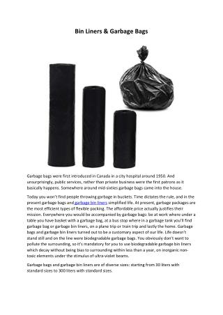Bin Liners & Garbage Bags
