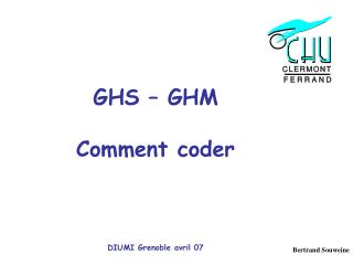 GHS – GHM Comment coder