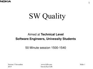 SW Quality