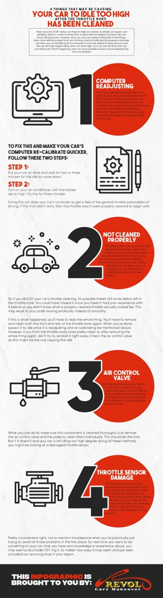 4 Things That May Be Causing Your Car To Idle Too High After The Throttle Body Has Been Cleaned