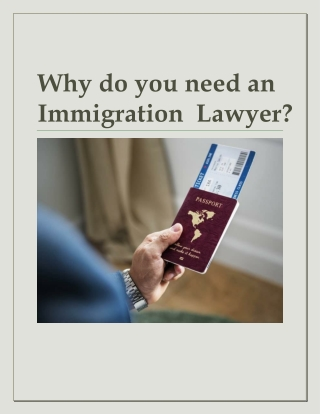 Why do you need an Immigration Lawyer?