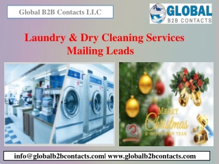 Laundry & Dry Cleaning Services Mailing Leads