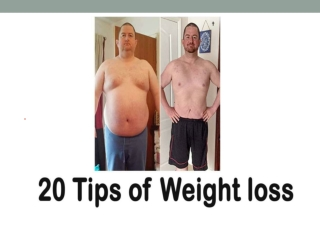 20 Tips Of Weight Loss
