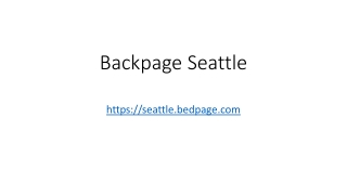 Backpage Seattle