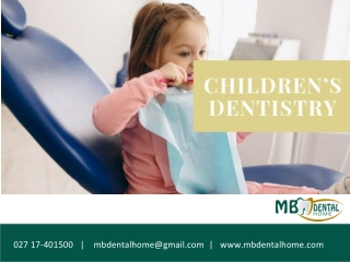 Why are dental check ups important for kids?