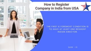 How to Register Company in India From USA