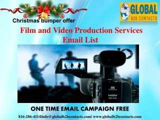 Film and Video Production Services