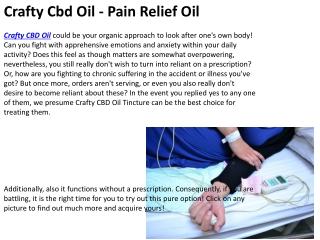 Crafty Cbd Oil - Pain Relief Oil