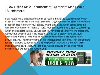 Flow Fusion Complete Men Health Supplement