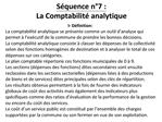 S quence n 7 :  La Comptabilit  analytique