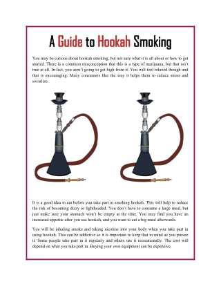 A Guide to Hookah Smoking