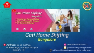 Gati Home Shifting Packers and Movers Bangalore