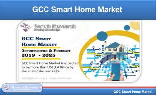 GCC Smart Home Market Share & Forecast - by Applications (2019-2025)