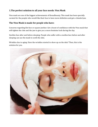 Face Vtox mask for the face and stamping polish for the perfect designs on the nails