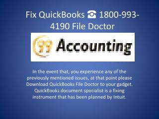 Resolve Download QuickBooks File Doctor