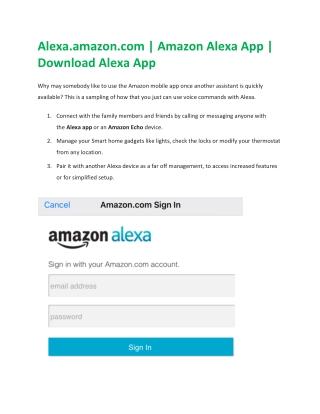Steps to Download Alexa App for Echo Dot Setup