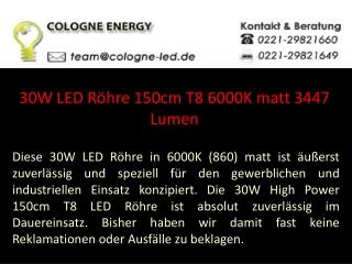 30W LED Röhre 150cm T8 6000K matt 3447 Lumen