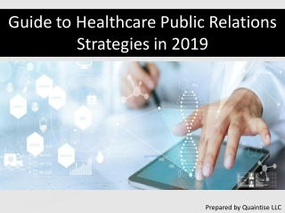 Guide to Healthcare Public Relations Strategies in 2019