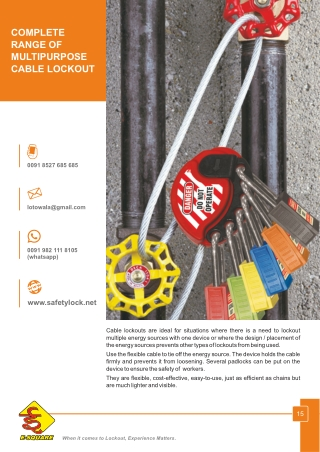 Multipurpose Cable Lockout by E-Square