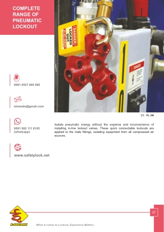 Pneumatic Lockout Devices by E-Square Alliance