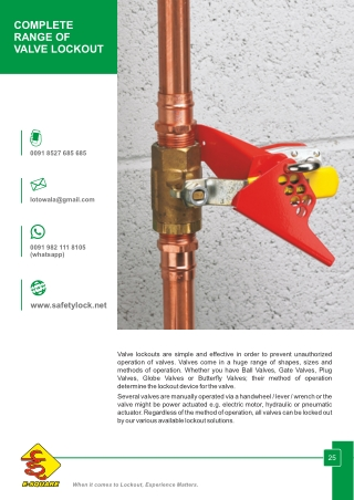 Complete Range of Valve Lockout Devices by E-Square