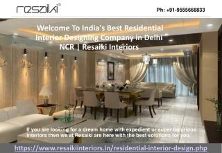 Best Residential Interior Designers Gurgaon