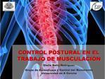 CONTROL POSTURAL EN EL TRABAJO DE MUSCULACI N Olalla Bello Rodr guez Grupo de Aprendizaje y Control del Movimiento Unive
