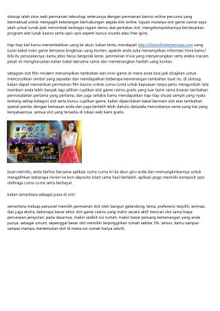 Free Slot Game Casino Online Tanpa Slots Unduh