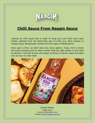 Chilli Sauce From Naagin Sauce