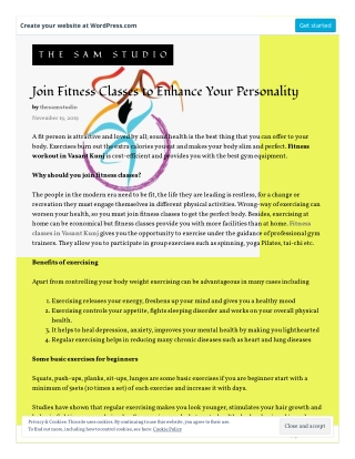 Join Fitness Classes to Enhance Your Personality