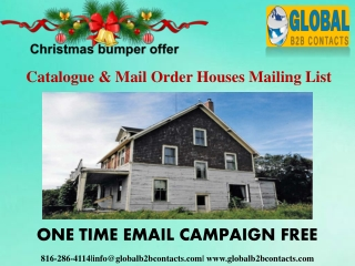 Catalogue & Mail Order Houses Mailing List