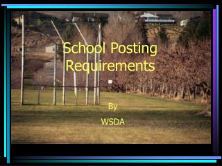 School Posting Requirements