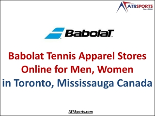 Babolat Tennis Apparel Stores Online for Men, Women in Toronto, Mississauga Canada