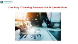 Technology Implementation in Financial Sector
