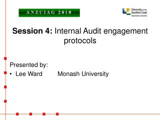 Session 4:  Internal Audit engagement protocols