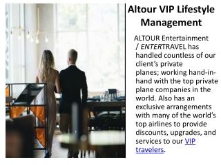 Altour VIP Lifestyle Management