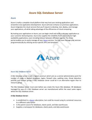 Azure SQL Database Server