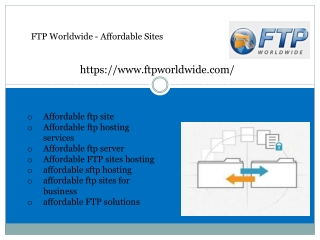 FTP Worldwide - Affordable Sites